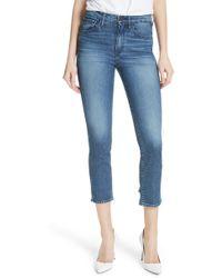3x1 - W3 Distressed Hem Crop Straight Leg Jeans - Lyst