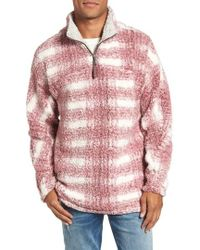 True Grit - Big Plaid Frosty Tipped Faux Fur Pullover - Lyst