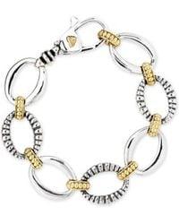 Lagos - 'link' 2-tone Bracelet - Lyst