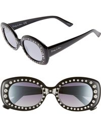 Circus by Sam Edelman - 50mm Crystal Embellished Gradient Oval Sunglasses - Lyst