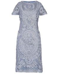 JS Collections - Short Sleeve Soutache Cocktail Dress - Lyst