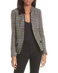 Helene Berman - Notch Collar Tweed Jacket - Lyst