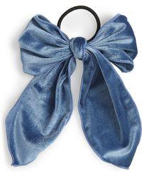 Cara - Floppy Velvet Bow Hair Tie - Lyst