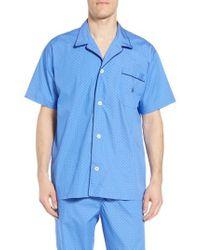 Polo Ralph Lauren - Dot Cotton Pajama Shirt - Lyst
