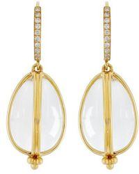Temple St. Clair - Temple St. Clair Dia Classic Amulet Drop Earrings - Lyst