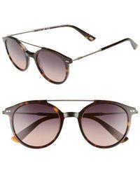 Web - 50mm Round Aviator Sunglasses - Havana/ Gradient Smoke - Lyst