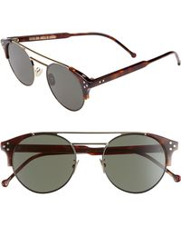 Cutler & Gross - 50mm Polarized Round Sunglasses - - Lyst