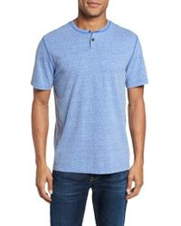 Surfside Supply - Heathered Short Sleeve Henley - Lyst