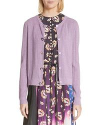 Marc Jacobs - Crystal Button Wool & Silk Cardigan - Lyst