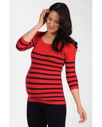 Tees by Tina - Nautical Stripe Maternity Top - Lyst