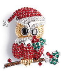 Nadri - Jolly Owl Pin - Lyst