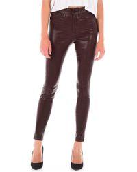 Fidelity - Luna Coated High Waist Skinny Ankle Jeans - Lyst