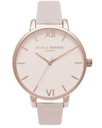 Olivia Burton - Begin To Blush Leather Strap Watch - Lyst