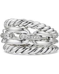 David Yurman - Wellesley Three-row Ring With Diamonds - Lyst