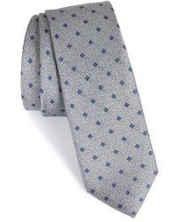 Calibrate - Moten Neat Silk Skinny Tie - Lyst