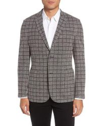 Vince Camuto | Del Aria Slim Fit Check Knit Jacket | Lyst