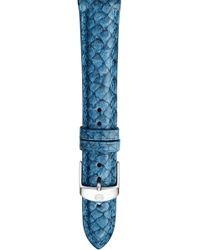 Michele - 18mm Seamist Blue Fish Skin Watch Strap - Lyst