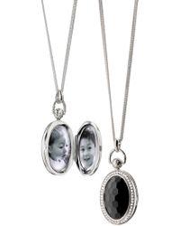 Monica Rich Kosann - Rock Crystal Locket Necklace - Lyst