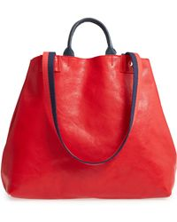 Clare V. - Le Big Sac Rustic Leather Tote - Lyst