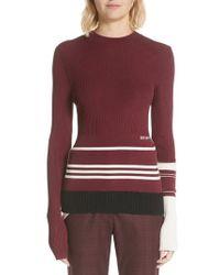 CALVIN KLEIN 205W39NYC - Varsity Stripe Colorblock Sweater - Lyst