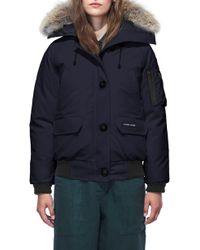 Canada Goose - Chilliwack Fusion Fit 625 Fill Power Down Bomber Jacket With Genuine Coyote Fur Trim - Lyst