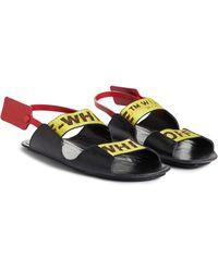 Off-White c/o Virgil Abloh - Zip Tie Leather Sandal - Lyst