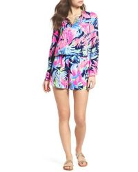 Lilly Pulitzer - Lilly Pulitzer Ariele Floral Romper - Lyst
