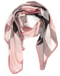 Burberry | 'ultra Mega Check' Washed Mulberry Silk Scarf | Lyst