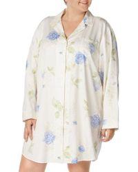 Lauren by Ralph Lauren - Floral Print Sleep Shirt - Lyst 578fb55a3