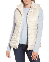 Gallery - Faux Fur Reversible Hooded Vest - Lyst