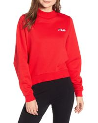 22f271fabfae Fila - Summer Mock Neck Sweatshirt - Lyst