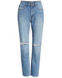 Billabong - Ripped High Waist Crop Jeans - Lyst