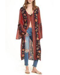 Band Of Gypsies - Bell Sleeve Kimono - Lyst
