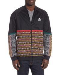 9d0c6ed82c528 Lyst - adidas Originals Williams Colour-block Knitted Track Jacket ...