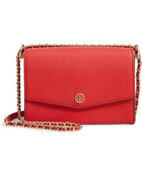 Tory Burch - Mini Robinson Convertible Leather Shoulder Bag - - Lyst