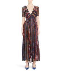 Missoni - Metallic Stripe Knit Dress - Lyst