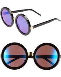 05d71df0fca93 Wildfox -  malibu Deluxe  55mm Retro Sunglasses - - Lyst