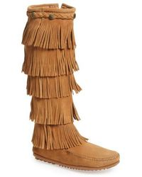 Minnetonka - '5 Layer Fringe' Boot - Lyst