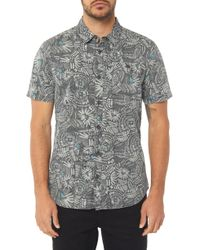 e50e8aa6244 Lyst - Marks   Spencer Pure Cotton Printed Shirt in Blue for Men
