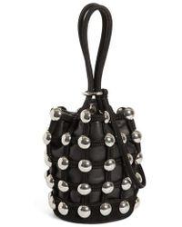 Alexander Wang - 'roxy' Glass Stud Mini Cage Leather Bucket Bag - Lyst