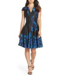 Julia Jordan - Fit & Flare Scuba Dress - Lyst