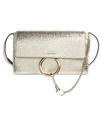 Chloé - Small Faye Metallic Leather Shoulder Bag - Metallic - Lyst
