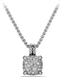 David Yurman - 'chatelaine' Pendant Necklace With Diamonds - Lyst