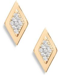 Dana Rebecca - Dana Rebecca Lisa Michelle Multi Diamond Stud Earrings - Lyst
