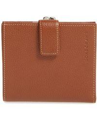 Longchamp - 'le Foulonne' Pebbled Leather Wallet - - Lyst