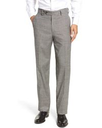 Berle - Flat Front Stretch Plaid Houndstooth Trousers - Lyst