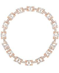 Steve Madden - Faceted Stone Chain Collar Necklace - Lyst