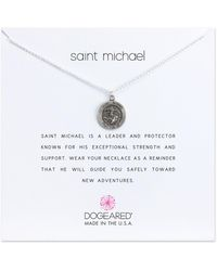 Dogeared - Saint Michael Pendant Necklace - Lyst