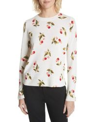 Joie - Print Cashmere Sweater - Lyst