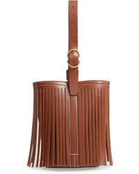 Trademark - Small Fringe Leather Bucket Bag - - Lyst